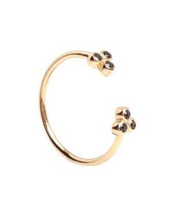 anillo circonitas negras