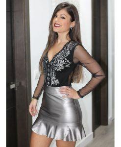 falda plata