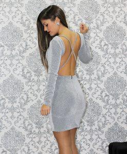 vestido plata