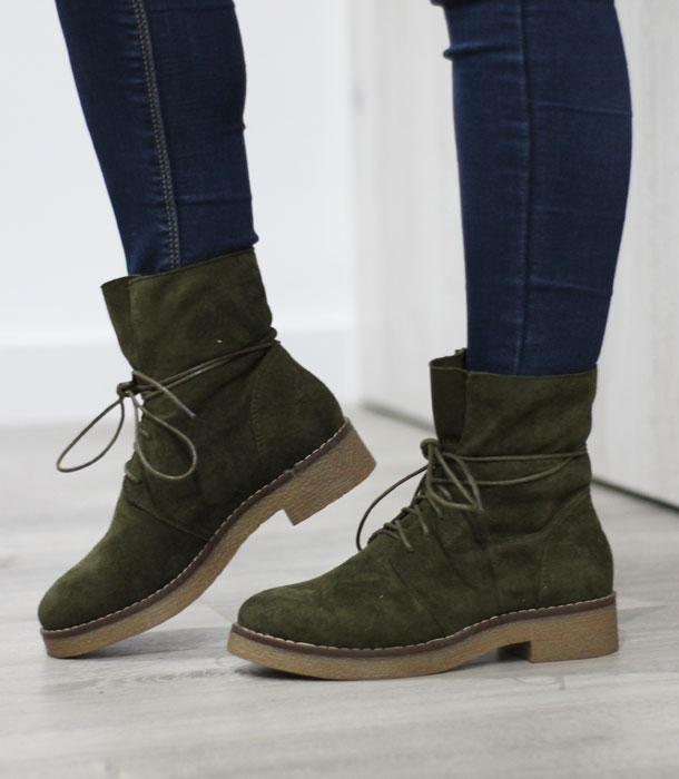 botines verdes