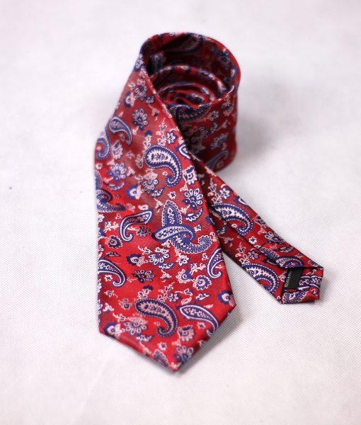 Corbata cachemir roja