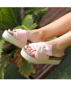 sandalias rosa nude