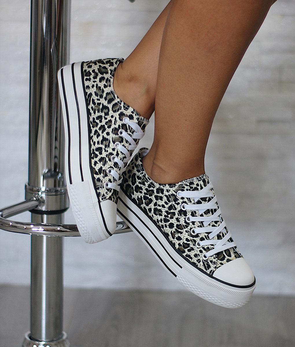 4a08140a3c8 Zapatillas plataforma leopardo – KL Moda