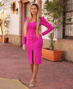 vestido buganvilla